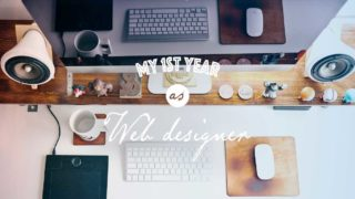 Webデザイナー1年目の振り返り|パソコンデスクでデザインをしている風景
